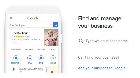 Google My Business company lookup
