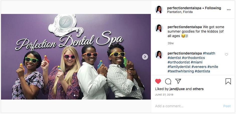 Fun Dental Practice Instagram Photo